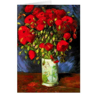 Van Gogh Vase With Red Poppies Greeting Card