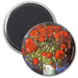 Van Gogh: Vase with Red Poppies Magnet