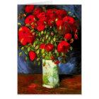 Van Gogh Vase With Red Poppies Note Card