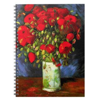 Van Gogh Vase With Red Poppies Notebook