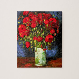 Van Gogh Vase With Red Poppies Puzzle