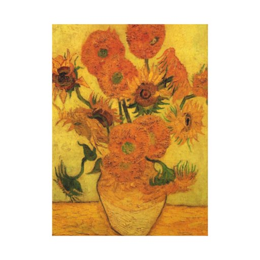 Van Gogh Vase with Sunflowers, Fine Art Flowers Canvas Prints