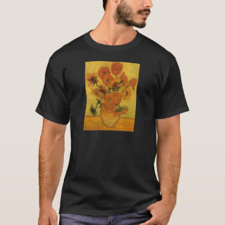 Van Gogh Vase with Sunflowers, Fine Art Flowers T-Shirt