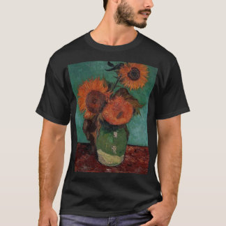 van gogh vase with three sunflowers T-Shirt