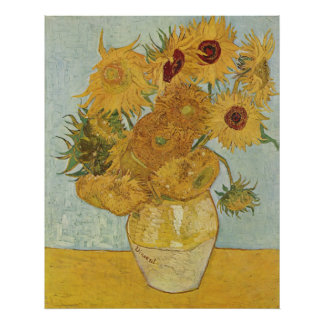 van Gogh - Vase with Twelve Sunflowers (1888) Poster