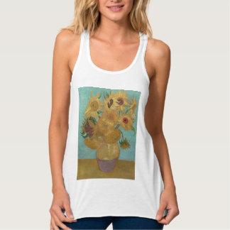 Van Gogh Vase with Twelve Sunflowers Flowy Racerback Tank Top