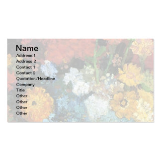 Van Gogh - Vase With Zinnias Pack Of Standard Business Cards