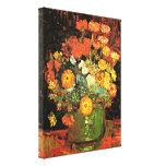 Van Gogh - Vase with Zinnias Gallery Wrap Canvas