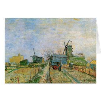 Van Gogh Vegetable Garden in Montmartre, Fine Art Card