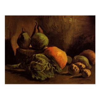 Van Gogh Vegetables Fruit, Vintage Still Life Art Postcard