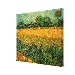 Van Gogh View of Arles w Irises, Vintage Landscape