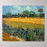 Van Gogh View Of Arles With Irises Poster