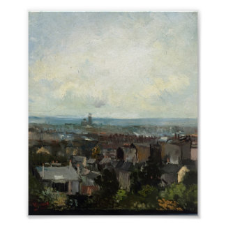 Van Gogh - View of Paris from near Montmartre Poster