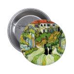 Van Gogh - Village Street and Steps in Auvers 6 Cm Round Badge