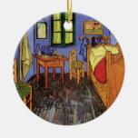 Van Gogh Vincent's Bedroom in Arles, Fine Art Round Ceramic Decoration