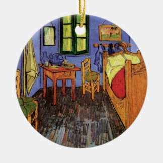 Van Gogh Vincent's Bedroom in Arles, Fine Art Round Ceramic Decoration