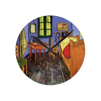 Van Gogh Vincent's Bedroom in Arles, Fine Art Round Clock