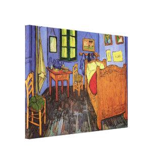 Van Gogh; Vincent's Bedroom in Arles, Vintage Art Canvas Print
