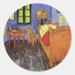 Van Gogh; Vincent's Bedroom in Arles, Vintage Art Sticker