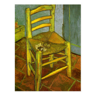 Van Gogh, Vincent's Chair With His Pipe Postcard