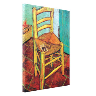 Van Gogh - Vincent's Chair With Pipe Stretched Canvas Print
