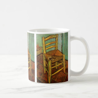 Van Gogh; Vincent's Chair with Pipe, Vintage Art Basic White Mug