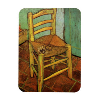Van Gogh; Vincent's Chair with Pipe, Vintage Art Rectangular Photo Magnet