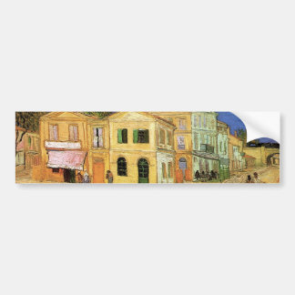 Van Gogh Vincent's House in Arles, Fine Art Bumper Sticker