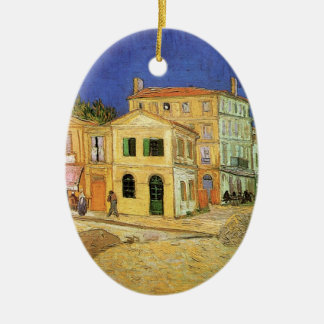Van Gogh Vincent's House in Arles, Fine Art Ceramic Oval Decoration