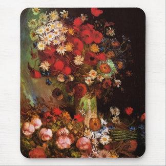 Van Gogh Vintage Flowers in Vase Floral Still Life Mouse Mat