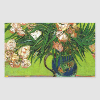 Van Gogh Vintage Painting Blossoms Flowers Vines Rectangle Stickers