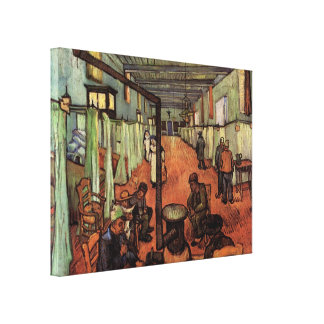 Van Gogh; Ward in the Hospital in Arles Stretched Canvas Prints