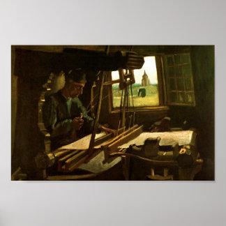 Van Gogh Weaver Near an Open Window Posters