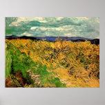 Van Gogh; Wheat Field Cornflowers, Vintage Farm Poster