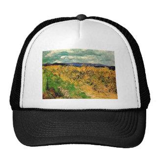 Van Gogh Wheat Field Cornflowers, Vintage Fine Art Cap