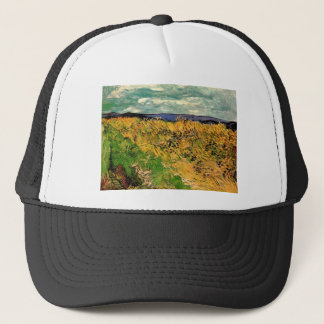 Van Gogh Wheat Field Cornflowers, Vintage Fine Art Trucker Hat