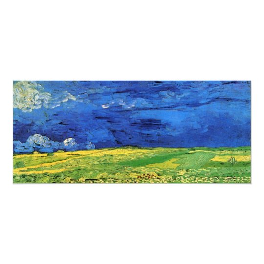 Van Gogh Wheat Field Under a Clouded Sky