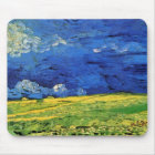Van Gogh Wheat Field Under a Clouded Sky Mouse Mat