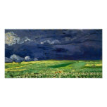 Van Gogh Wheat Field Under Clouded Sky (F778)