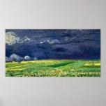 Van Gogh Wheat Field Under Clouded Sky Print