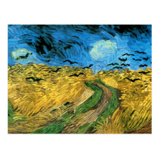 Van Gogh - Wheat Field Under Threatning Sky's Postcard
