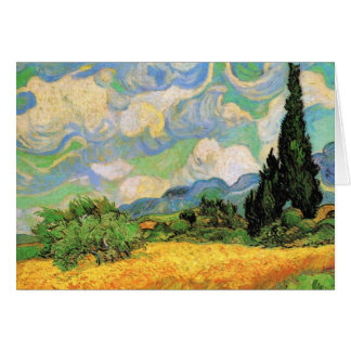 Van Gogh Wheat Field w Cypresses at Haute Galline Card