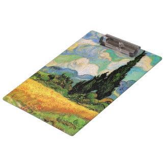 Van Gogh Wheat Field w Cypresses at Haute Galline Clipboards