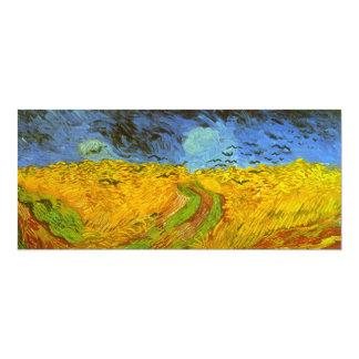 Van Gogh Wheat Field with Crows, Vintage Fine Art 10 Cm X 24 Cm Invitation Card