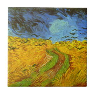 Van Gogh Wheat Field with Crows, Vintage Fine Art Tile