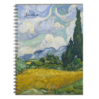 Van Gogh Wheat Field with Cypresses Note Books