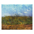 Van Gogh: Wheat Field with Poppies and Lark Poster