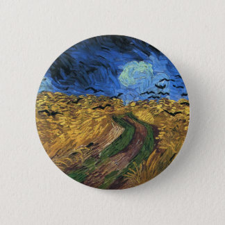 Van Gogh Wheatfield With Crows Button