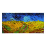Van Gogh Wheatfield with Crows (F779) Fine Art Poster