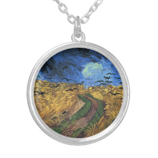 Van Gogh Wheatfield With Crows Necklace